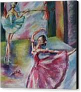 Dancing Ballerinas Canvas Print by Khatuna Buzzell