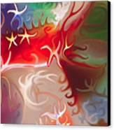 Dancing Stars Canvas Print by Omaste Witkowski