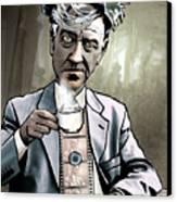 David Lynch - Strange Brew Canvas Print by Sam Kirk