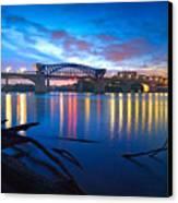 Dawn Along The River Canvas Print by Steven Llorca