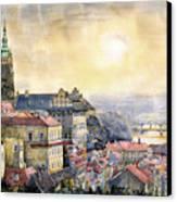 Dawn Of Prague Canvas Print by Yuriy  Shevchuk