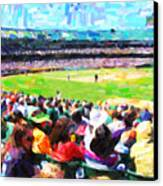 Day Game At The Old Ballpark Canvas Print by Wingsdomain Art and Photography