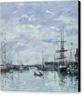 Deauville The Dock Canvas Print by Eugene Louis Boudin
