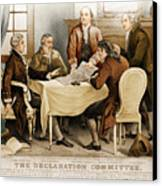 Declaration Committee 1776 Canvas Print by Photo Researchers