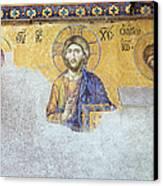 Deesis Mosaic Of Jesus Christ Canvas Print by Artur Bogacki