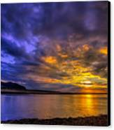 Deganwy Sunset Canvas Print by Adrian Evans