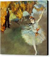 Degas: Star, 1876-77 Canvas Print by Granger