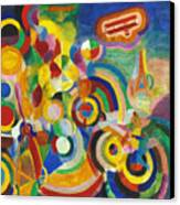 Delaunay: Hommage Bleriot Canvas Print by Granger