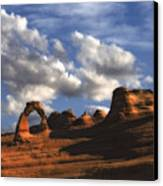 Delicate Arch In Arches National Park Canvas Print by Utah Images