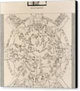 Dendera Zodiac From The Temple Of Hathor Canvas Print by Humanities And Social Sciences Libraryasian And Middle Eastern Division