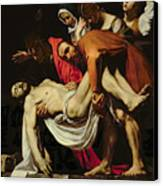 Deposition Canvas Print by Michelangelo Merisi da Caravaggio