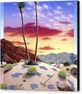 Desert Sunrise Canvas Print by Snake Jagger