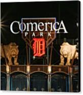 Detroit Tigers - Comerica Park Canvas Print by Gordon Dean II