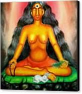 Devi Kali Goddess Canvas Print by Sri Mala