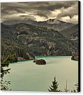 Diablo Lake - Le Grand Seigneur Of North Cascades National Park Wa Usa Canvas Print by Christine Till