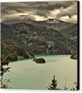 Diablo Lake - Le Grand Seigneur Of North Cascades National Park Wa Usa Canvas Print by Christine Till