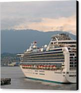 Diamond Princess Leaving Vancouver British Columbia Canada Canvas Print by Christine Till