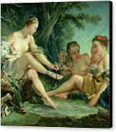 Diana After The Hunt Canvas Print by Francois Boucher