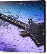 Digital-art E-guitar II Canvas Print by Melanie Viola
