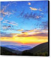 Digital Liquid - Good Morning Virginia Canvas Print by Metro DC Photography