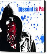 Dissent Is Patriotic Canvas Print by Jeff Ball