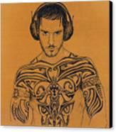 DJ Canvas Print by Mon Graffito