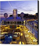 Docked In Monte Carlo Canvas Print by Janet Fikar