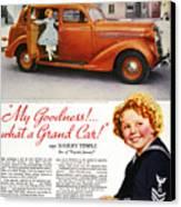 Dodge Automobile Ad, 1936 Canvas Print by Granger