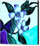 Dogwood Purple Canvas Print by Marsha Heiken