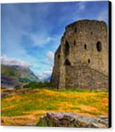 Dolbadarn Castle  Canvas Print by Adrian Evans