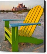 Don Cesar And Beach Chair Canvas Print by David Lee Thompson