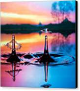 Double Liquid Art Canvas Print by William Lee