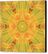 Double Star Abstract Canvas Print by Linda Phelps