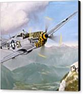 Double Trouble Over The Eagle Canvas Print by Marc Stewart