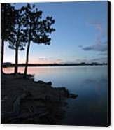 Dowdy Lake Silhouette Canvas Print by James Steele