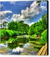 Down By The Riverside Canvas Print by Kim Shatwell-Irishphotographer