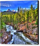 Down The River Canvas Print by Scott Mahon