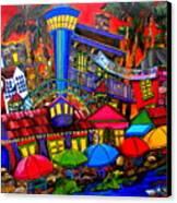Downtown Attractions Canvas Print by Patti Schermerhorn