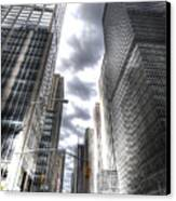 Downtown Hdr Canvas Print by Robert Ponzoni