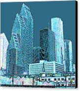Downtown Houston Canvas Print by Fred Jinkins