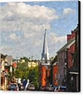 Downtown Lexington 3 Canvas Print by Kathy Jennings