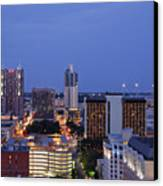 Downtown San Antonio At Night Canvas Print by Jeremy Woodhouse