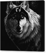 Dragon Wolf Canvas Print by Stanley Morrison