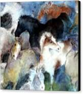 Dream Of Wild Horses Canvas Print by Christie Michelsen