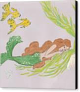 Dreaming Mermaid Canvas Print by Rosalie Scanlon