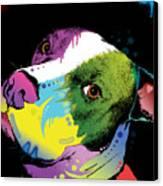 Dripful Pitbull Canvas Print by Dean Russo