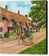 Driving A Jaunting Cart Canvas Print by Charlotte Blanchard