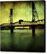 Driving Over The Bridge Canvas Print by Cathie Tyler