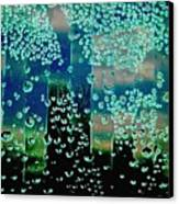 Drops Of Rain Canvas Print by Shirley Sirois