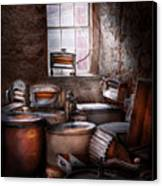 Dry Cleaner - Put You Through The Wringer  Canvas Print by Mike Savad